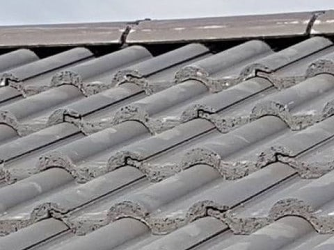 Roof Repairs Wensley Fold cement missing from ridge